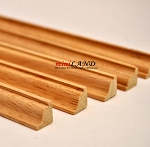 Crown Molding dollhouse miniature trim 5pc 50cm x 10x10mm Hardwood Oak